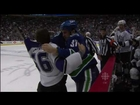 Rick Rypien Vs Richard Clune - Canucks Vs Kings - R1G5 2010 Playoffs - 04.23.2010 - HD