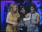 Debi Diamond, Tammi Ann and Bionca win Most Outrageous Sex Scene at the 1995 AVN Awards