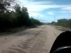 Motomel Skua 200 on board San Marcos Sierras, camino al Camping Quilpo