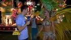 Bastidores do Carnaval 2013  Gata exibe barriga tanquinho antes de entrar na Sapucaí