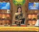 Abhiruchi - Recipes - Vankaya Pachi Senagapappu, Tomato Kobbari Lavuju & Tamalapaku Bajjilu - 04